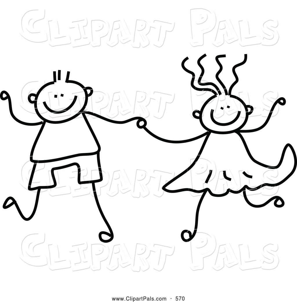 friends holding hands coloring pages - photo#4