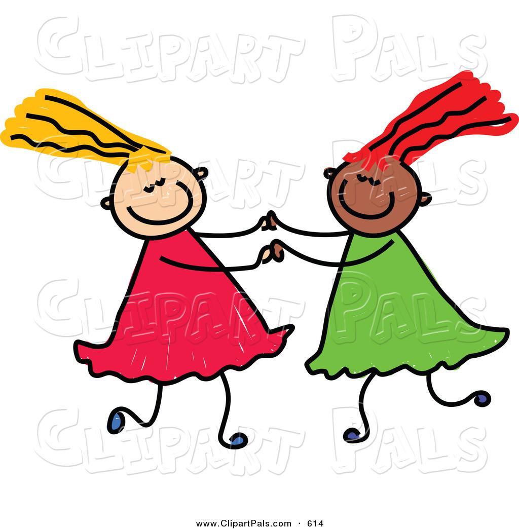 2 Girls Tug Happy