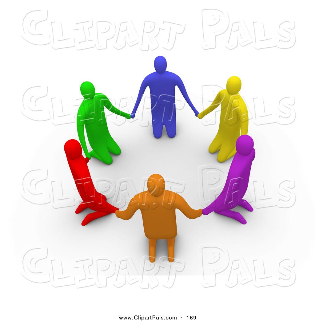Royalty Free Stock Friend Designs of Prayer Groups