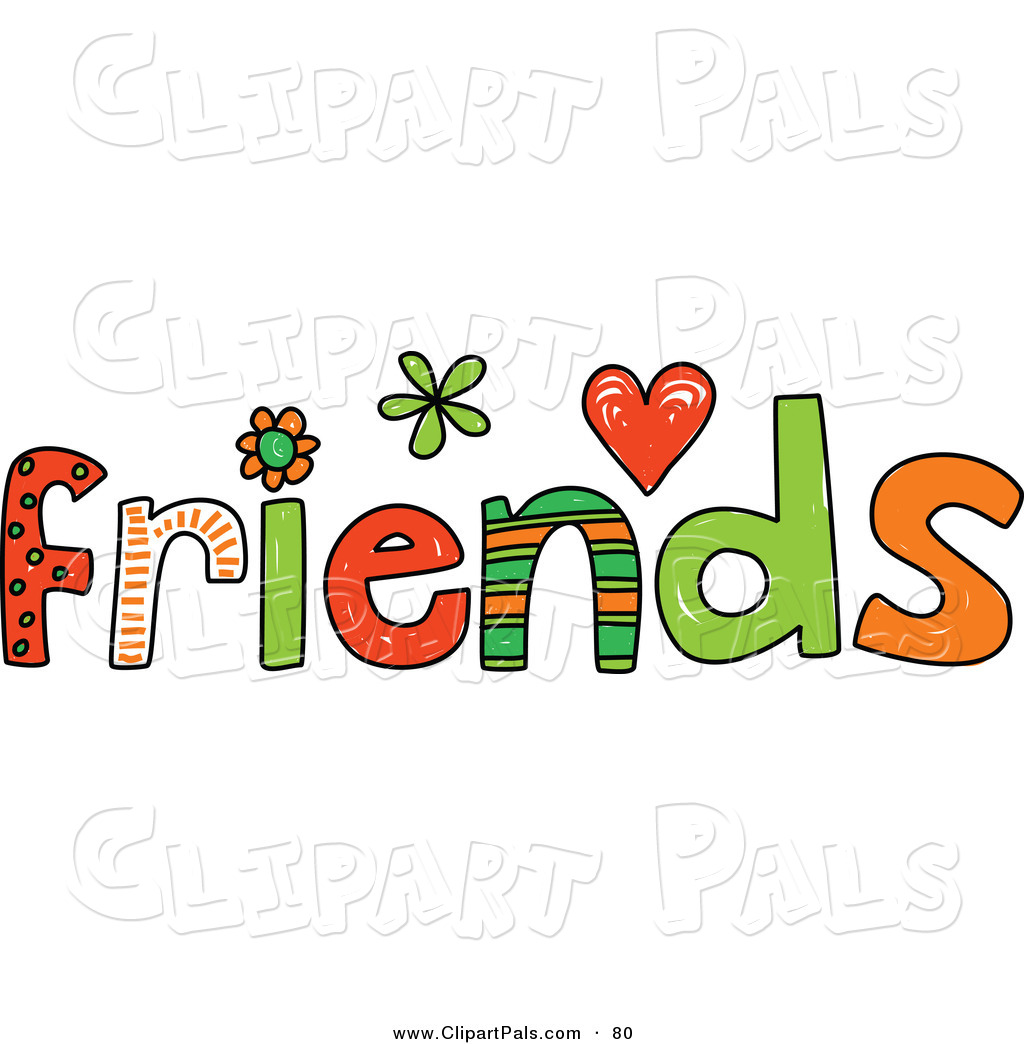 Larger Preview: Pal Clipart of a Colorful Friends Word on White by ...: clipartpals.com/designs/friendship-pg10