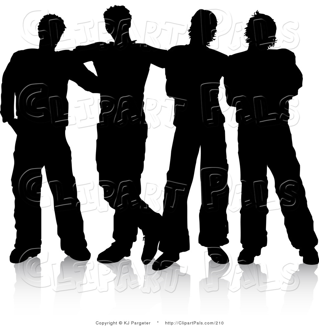 Royalty Free Stock Friend Designs Of Silhouettes