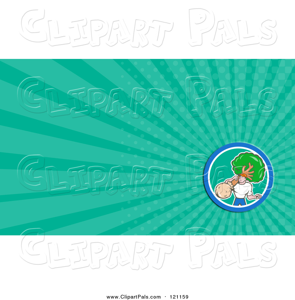 Pal clipart of a landscaper carrying a tree and green rays pal clipart of a landscaper carrying a tree and green rays background or business card design magicingreecefo Choice Image