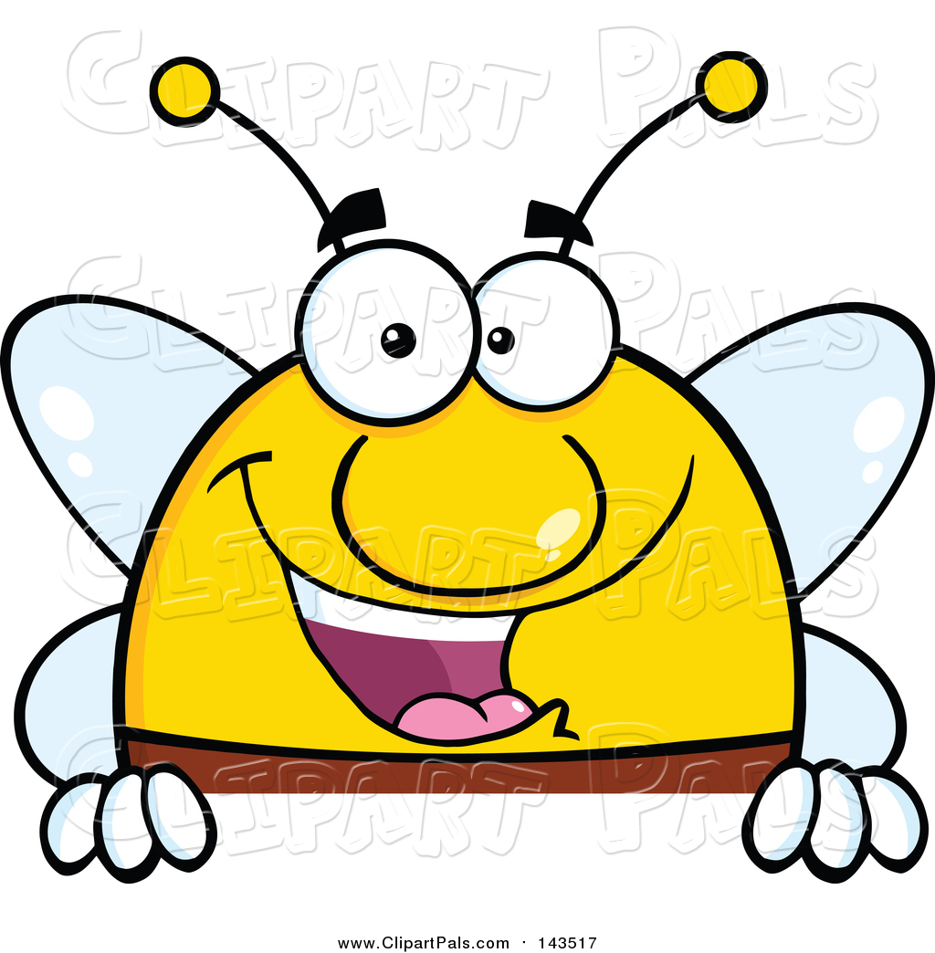 pal clipart of a smiling bee cartoon style by hit toon 143517