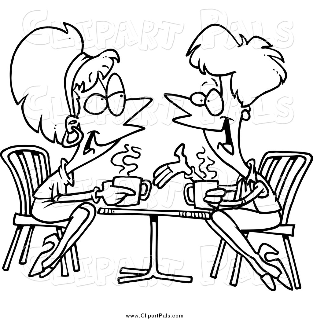 Friends talking clipart illustration