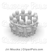 3d Clipart of a Group of People Talking in a Circle by Jiri Moucka