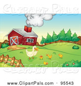 August 9th, 2017: Clipart of Chicks and a Duck on a Farm by Graphics RF