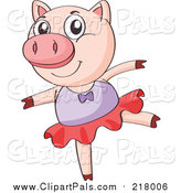 Pal Clipart of a Ballerina Pig Dancing by Graphics RF