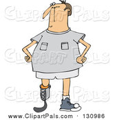 Pal Clipart of a Blade Runner Man with an Artificial Prosthetic Leg by Djart