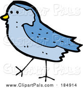 Pal Clipart of a Blue Bird by Lineartestpilot