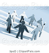 Pal Clipart of a Circle of 3d People Holding Hands by 3poD