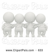 Pal Clipart of a Cute 3d Person Group Together by Andresr