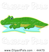 Pal Clipart of a Cute Happy Alligator by