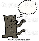 Pal Clipart of a Dancing Thinking Cat by Lineartestpilot