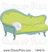 Pal Clipart of a Fancy Sofa by BNP Design Studio