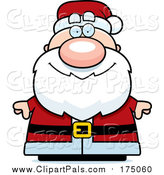 Pal Clipart of a Happy Chubby Santa by Cory Thoman