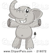 Pal Clipart of a Happy Elephant Cheering by Graphics RF