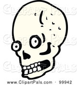 Pal Clipart of a Human Skull with Eyes and Teeth by Lineartestpilot