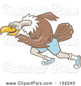 Pal Clipart of a Running Vulture Bird by Patrimonio