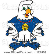 September 21st, 2015: Pal Clipart of a Seahawk Sports Mascot Wearing a Medal by Toons4Biz