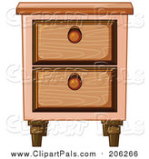 Pal Clipart of a Side Table by Graphics RF