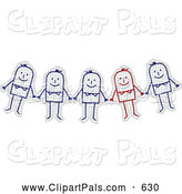 Pal Clipart of a Stick Figure Drawing Group on Graph Paper by NL Shop