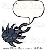 Pal Clipart of a Talking Black Beetle by Lineartestpilot