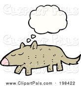 Pal Clipart of a Thinking Brown Dog by Lineartestpilot
