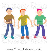 Pal Clipart of a Trio of Boys in Casual Clothes by Prawny