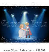 Pal Clipart of a Wedding Prince and Princess on Stage by Graphics RF