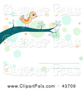 Pal Clipart of a Yellow Bird on a Branch by BNP Design Studio