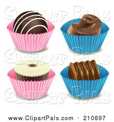 Pal Clipart of Chocolate Candies by Graphics RF