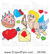 September 2nd, 2015: Pal Clipart of Cupid and Hearts by Visekart
