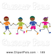 Pal Clipart of Hispanic Stick Figure Boys Holding Hands by Prawny