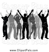 Pal Clipart of Silhouetted Dancers by KJ Pargeter