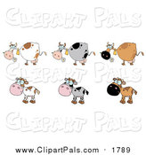 Pal Clipart of Six Cows by Hit Toon