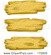 Pal Clipart of Three Wooden Signs by BNP Design Studio