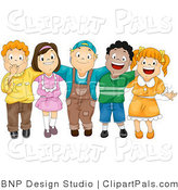 Pal Vector Clipart of a Group of Diverse Children by BNP Design Studio