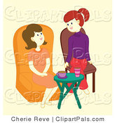 Pal Vector Clipart of Friends Talking by Cherie Reve