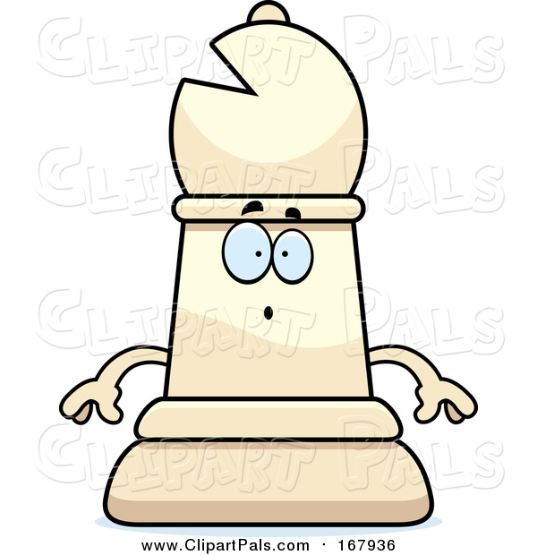 Clipart of a Shocked Bishop Piece - Cartoon Character Style