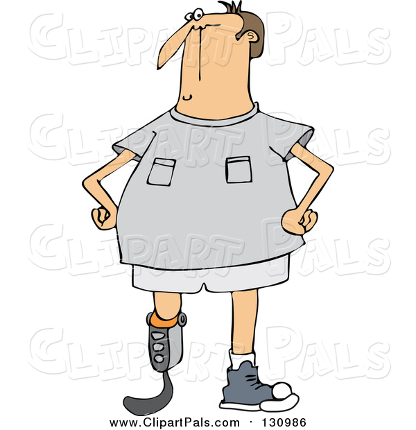 Pal Clipart of a Blade Runner Man with an Artificial Prosthetic Leg