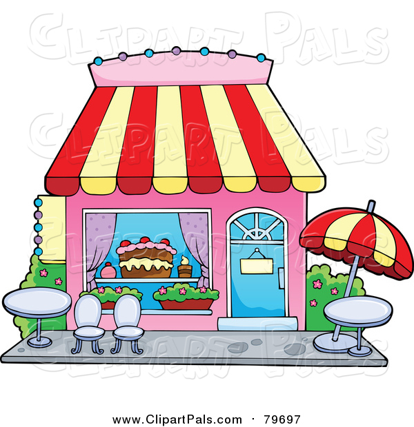Pal Clipart of a Cake or Candy Shop