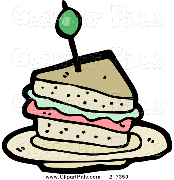 Pal Clipart of a Cartoon Sandwich