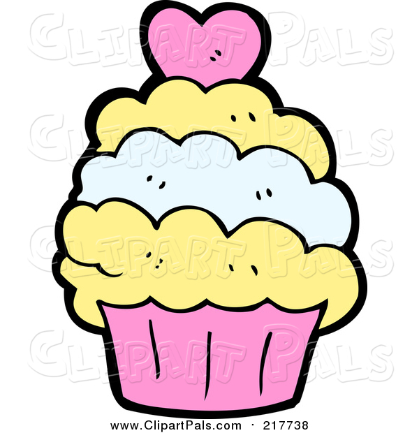 Pal Clipart of a Cupcake with a Heart
