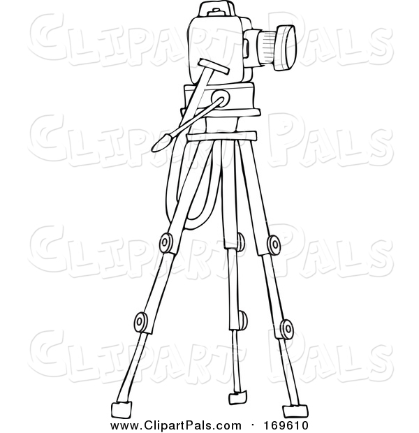 Pal Clipart of a Lineart Camera on a Tripod Stand
