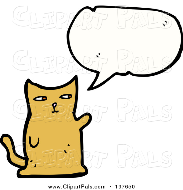 Pal Clipart of a Talking Ginger Cat