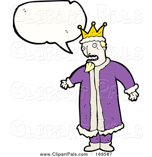 Pal Clipart of a White King with Conversation Bubble