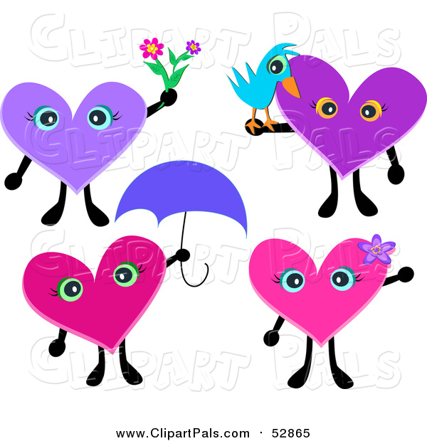 Pal Clipart of Heart Characters
