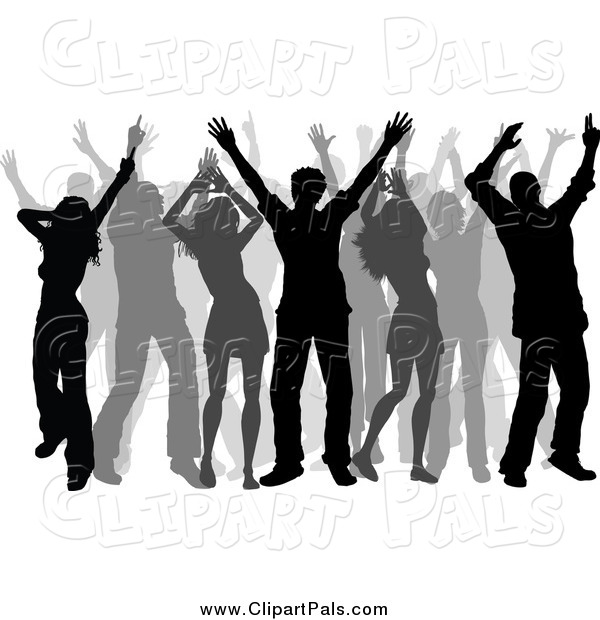 Pal Clipart of Silhouetted Dancers