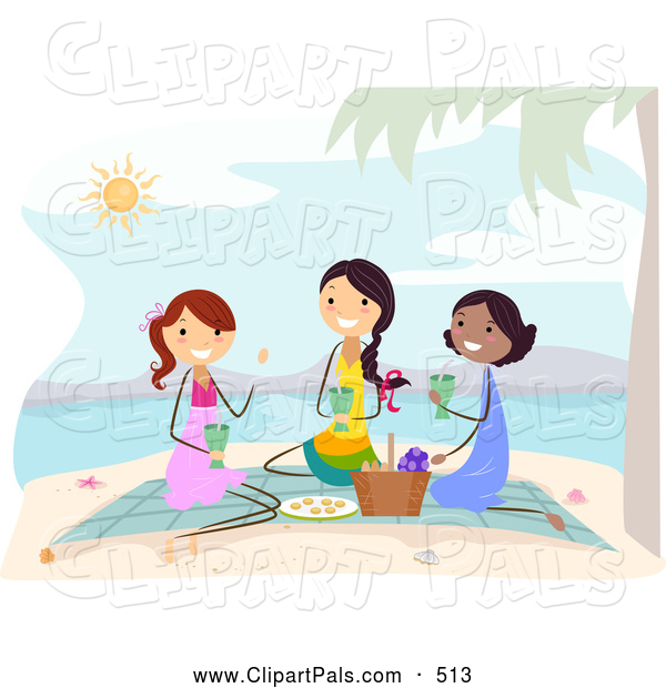 Beach Picnic Clip Art ...