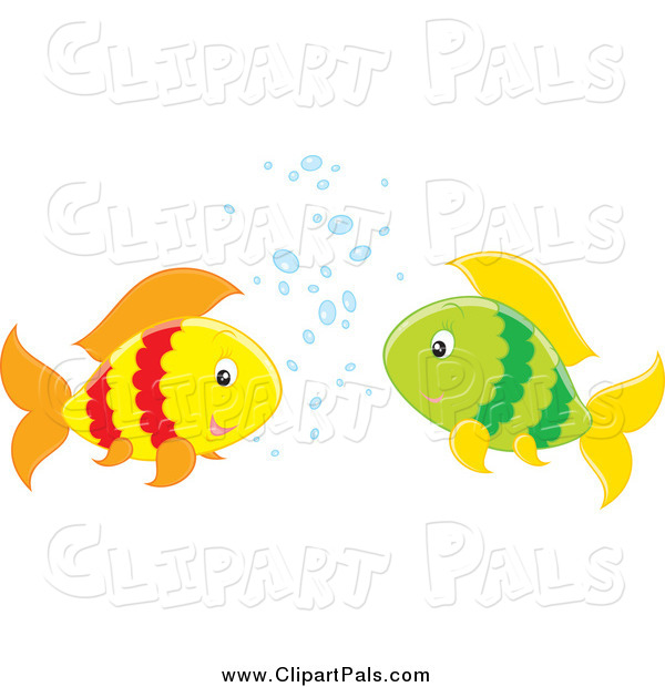 Pal Clipart of Two Fish Talking